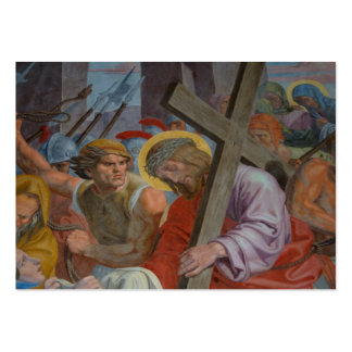 Jesus Bearing His Cross Large Business Cards (Pack Of 100)