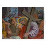 Jesus Bearing His Cross Large Greeting Card