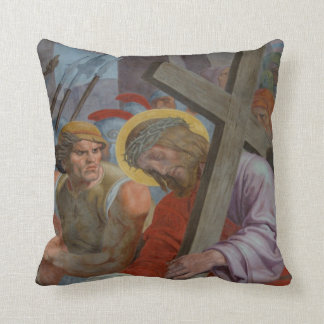 Jesus Bearing His Cross Pillow