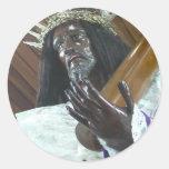 Jesus Bearing the Cross Round Stickers