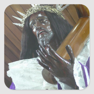 Jesus Bearing the Cross Square Sticker