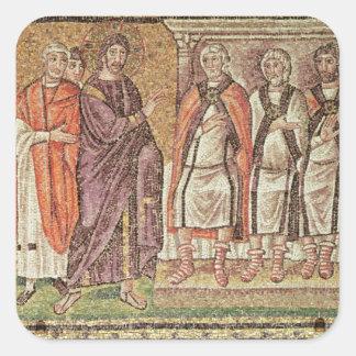 Jesus before Caiphus Square Sticker