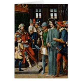 Jesus Before Pilate Card