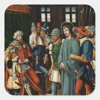 Jesus Before Pilate Square Sticker