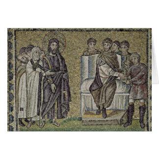 Jesus before Pontius Pilate Card
