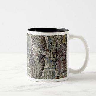 Jesus before Pontius Pilate Two-Tone Coffee Mug