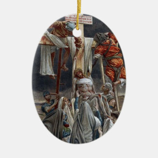 Jesus being removed from cross painting ornament