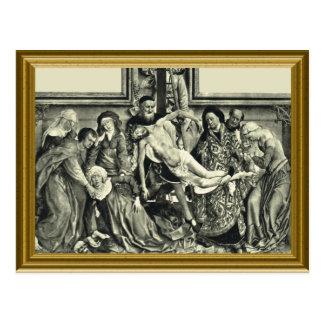 Jesus being taken from the cross postcard