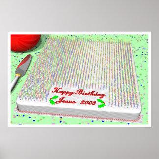 Jesus Birthday Cake Posters