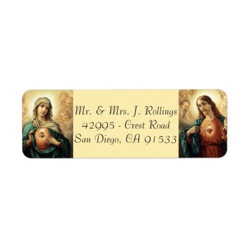 Jesus  Blessed Virgin Mary  Return Address Labels