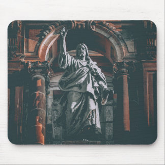Jesus blesses mouse pad