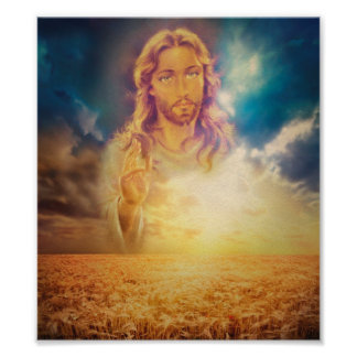 Jesus Blessing Holy Relgious Poster