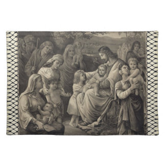 Jesus Blessing placemat