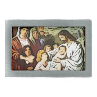 Jesus blessing the children belt buckles