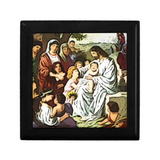 Jesus blessing the children keepsake box