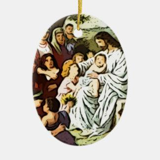 Jesus blessing the children ornaments