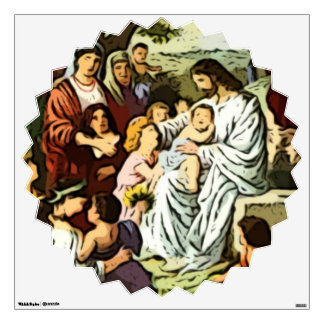 Jesus Blessing the children Wall Skin