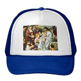 Jesus blessing the trucker hat