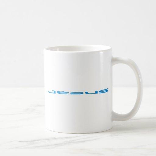 Jésus Bleu largo Taza De Café