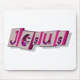 Jesus Bloc Fushia. Mouse Pad