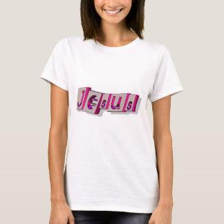Jesus Bloc Fushia. T-Shirt