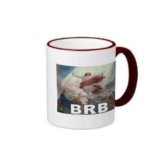 Jesus BRB Ringer Mug