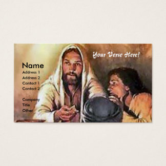 Jesus breaks Bread Business Card