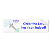 Jesus bridge bumper sticker