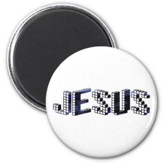 Jesus Brique Bleu foncé Magnet