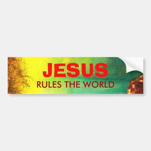 JESUS Bumper Sticker Car Bumper Sticker