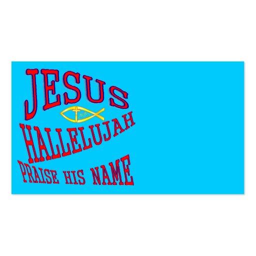 jesus business card