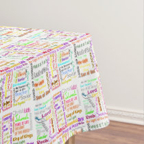 (Jesus) By Many Names Tablecloth