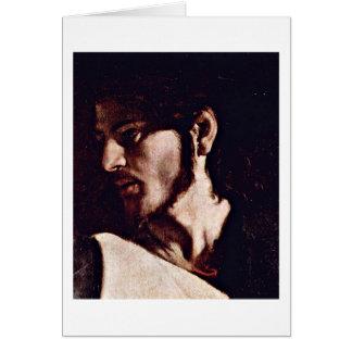 Jesus By Michelangelo Merisi Da Caravaggio Card