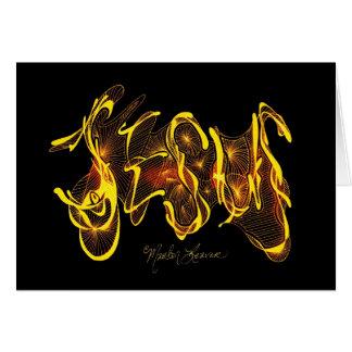 Jesus Calligraphy Card