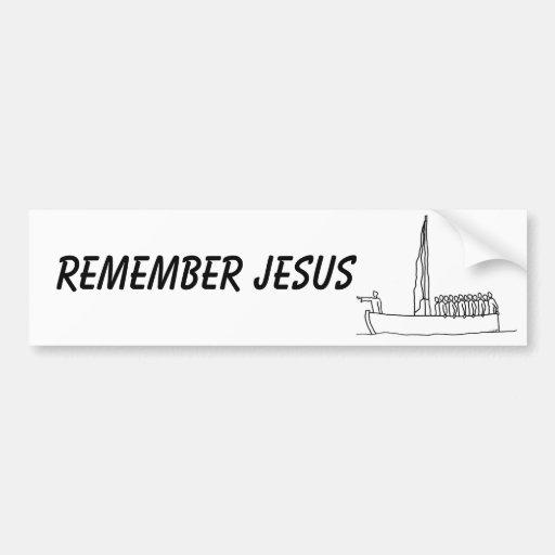 Jesús calma la parte 2 de la tormenta, recuerda a  pegatina para auto