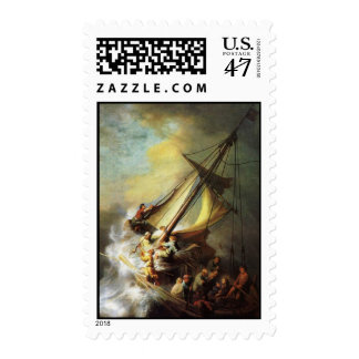 Jesus calming the Storm in The Sea of Galilee Postage