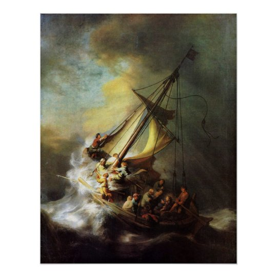 Jesus Calming The Storm In The Sea Of Galilee Poster