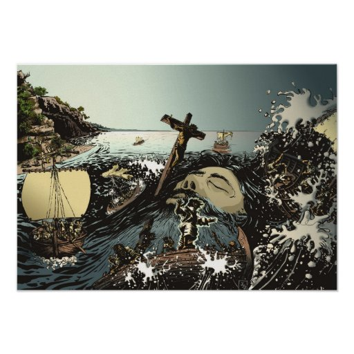 Jesus Calming the Storm Poster