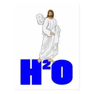 Jesús camina en el agua postal