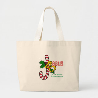 Jesus Candy Cane Tote Bags