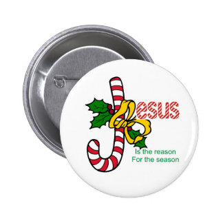Jesus Candy Cane Button