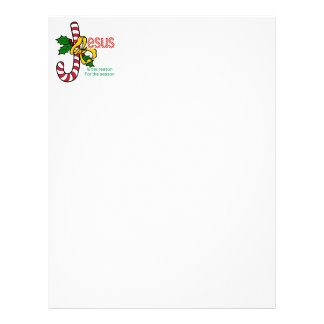Jesus Candy Cane Stationery Customized Letterhead