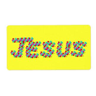 JESÚS - caras sonrientes Etiquetas De Envío