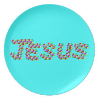JESÚS - caras sonrientes Platos Para Fiestas