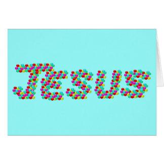 JESÚS - caras sonrientes Tarjeta De Felicitación