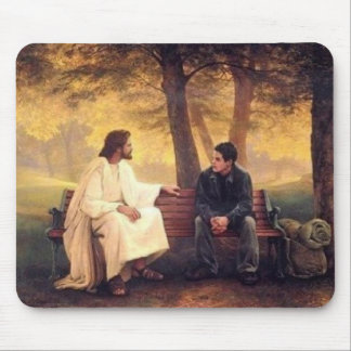 Jesus Cares For Me Mouse Pad