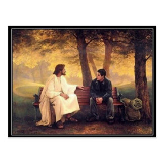 Jesus Cares For Me Postcard
