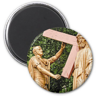 Jesus Carries Cross Magnet
