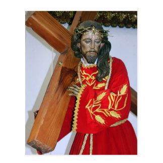Jesus Carries Cross Postcard