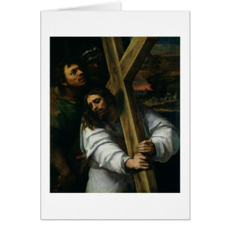 Jesus Carrying the Cross, c.1535 (oil on panel) Card